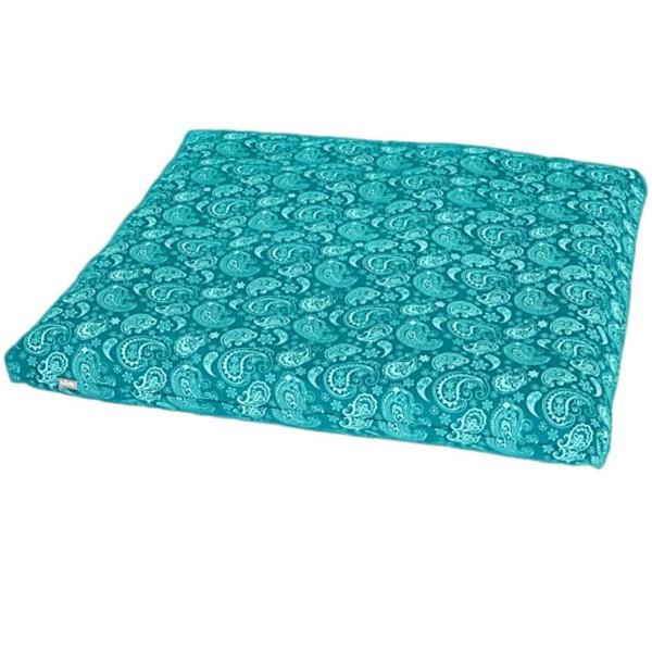 YOGISAN Meditationsmatte Zabuton Design Turquoise, ca. 80 x 80 x 5 cm