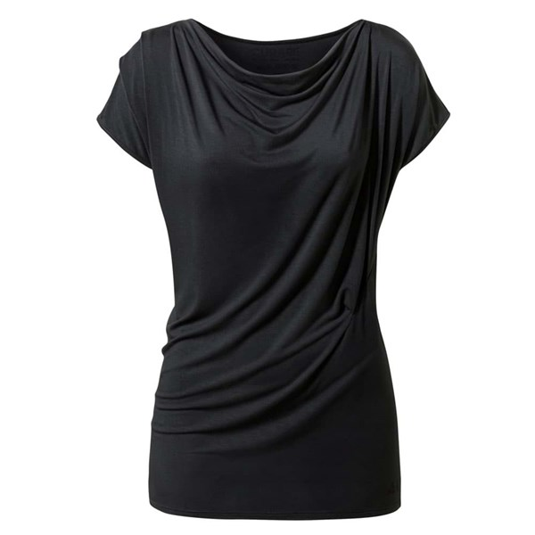 Curare Yogakleidung für Bikram Yoga Shirt Wasserfall #120 - Flow S, black