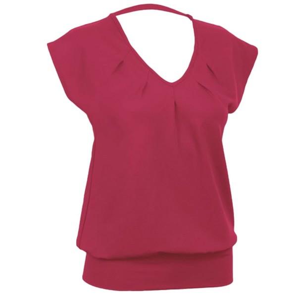 Curare Yogakleidung für Bikram Yoga Wide Shirt #4 KIRSCHE - Breath S