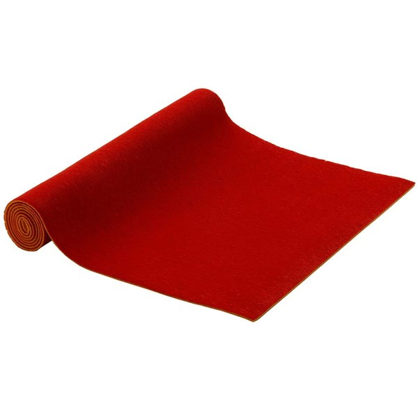 YOGISAN Pilatesmatte Sticky fleece 5mm Red