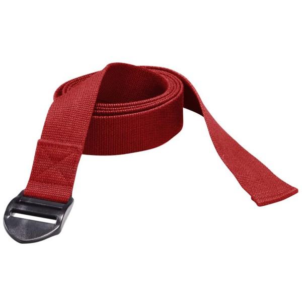 Trendy Sport: Fitnessmatte & Gymnastikmatte Yogagurt Trend Plastikschnalle Red