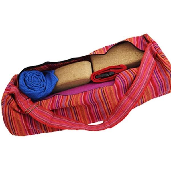 YOGISAN Yogamatten Tasche Stripes Pink