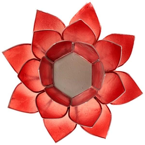 YOGISAN Teelichthalter Lotus Silver