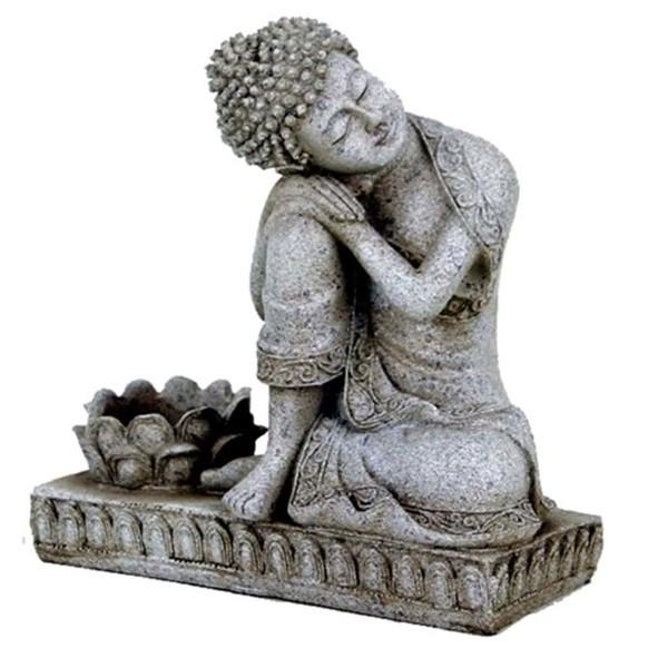 YOGISAN Buddha mit Kerzenhalter