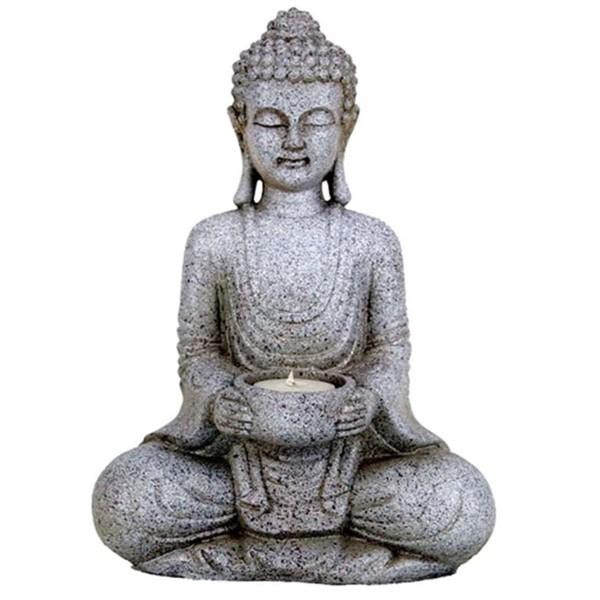 YOGISAN Meditierender Buddha mit Kerzenhalter