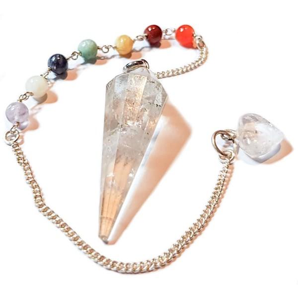 YOGISAN Chakra Pendel aus Bergkristall