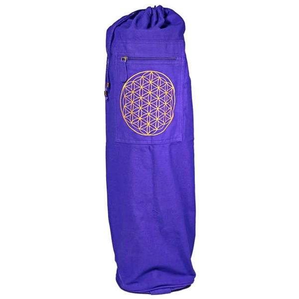 YOGISAN Yogatasche Violett Blume des Lebens