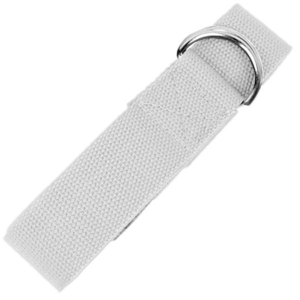 YOGISAN Yogagurt D-Ring 183 cm Baumwolle White