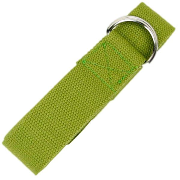 YOGISAN Yogagurt D-Ring 183 cm Baumwolle Green
