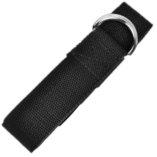 YOGISAN Yogagurt D-Ring 183 cm Baumwolle Black