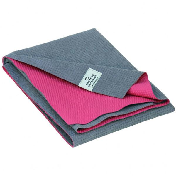 YOGISAN Yogatuch / Reisematte mit TPE Beschichtung Pink