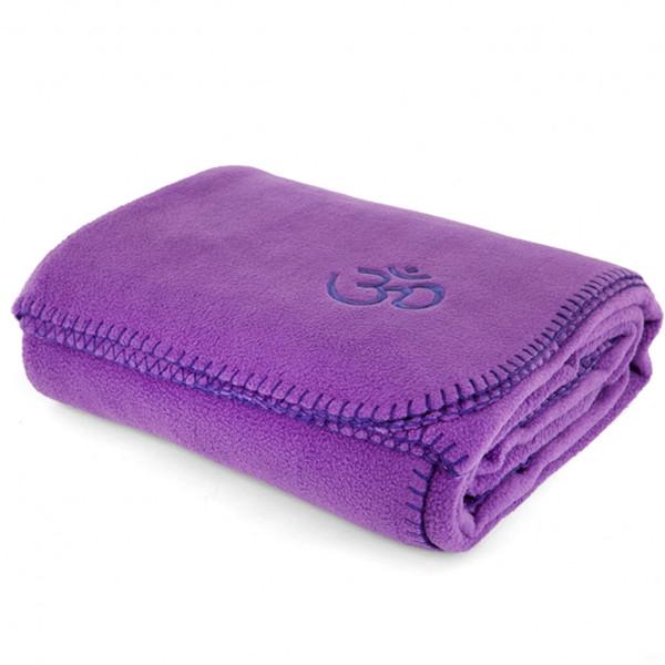 YOGISAN Yogadecke Asana-Yoga Om Violett