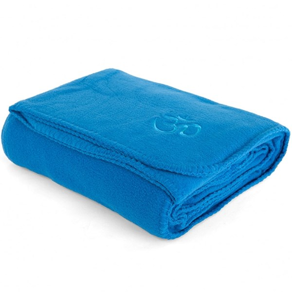 YOGISAN Yogadecke Asana-Yoga Om Blue