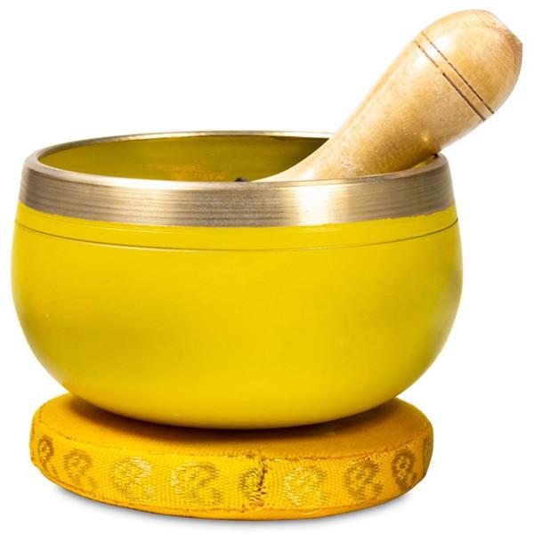 YOGISAN Chakra Klangschale im Set Solarplexuschakra Yellow