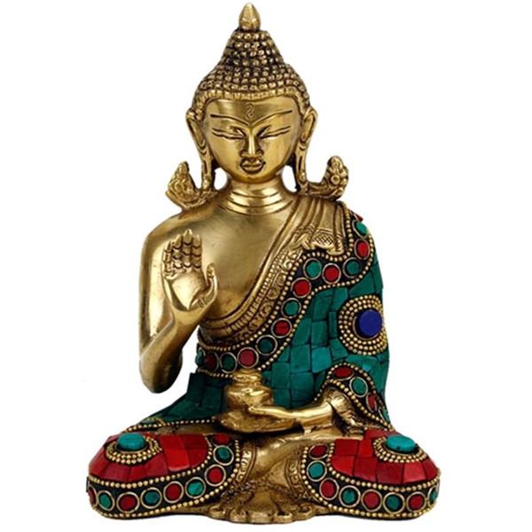 YOGISAN Buddha Mudra der Lehre mit Mosaik