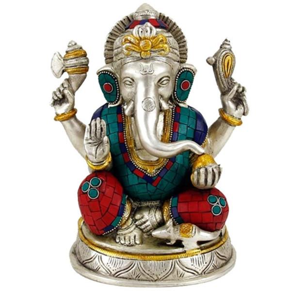 YOGISAN Ganesha Statue mit Mosaik