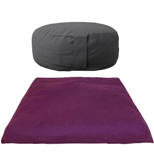YOGISAN Meditationsset Yogakissen Basic Reise mit Zabuton
