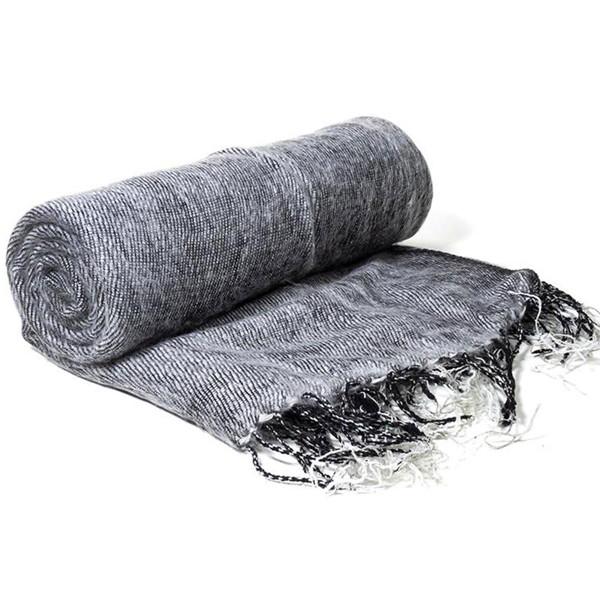 YOGISAN Yoga Schal für die Meditation Grey