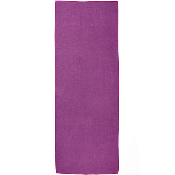 YOGISAN Yogatuch Extra Grip zweifarbig Lila