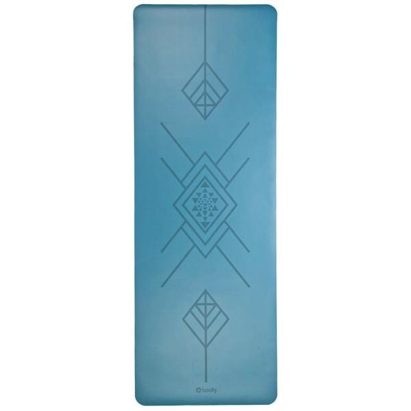 YOGISAN Yogamatte Tribal Art Blue Design