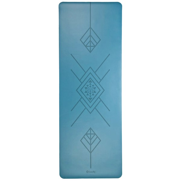 YOGISAN Yogamatte Tribal Art Blue Design