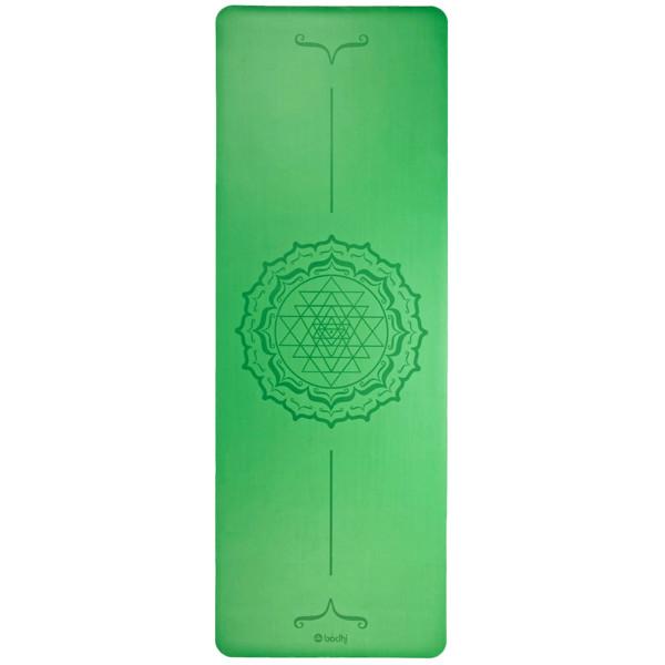 YOGISAN Yogamatte Yantra Mandala Green Design