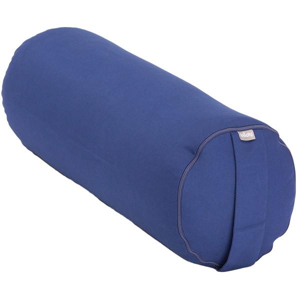 YOGISAN ECO Yoga-Bolster mit Kapok Füllung ECO Blue
