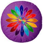 Meditationskissen bestickt - schönes Mandala Motiv