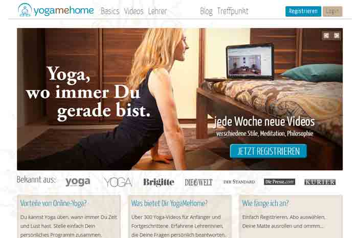 Yoga Video, Online Yoga, Yoga Übungen für zuhause -YogaMeHome
