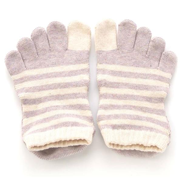 Knitido Zehensocken Yoga Zehen-Sneaker ABS Nagomi Lilac, 35-38