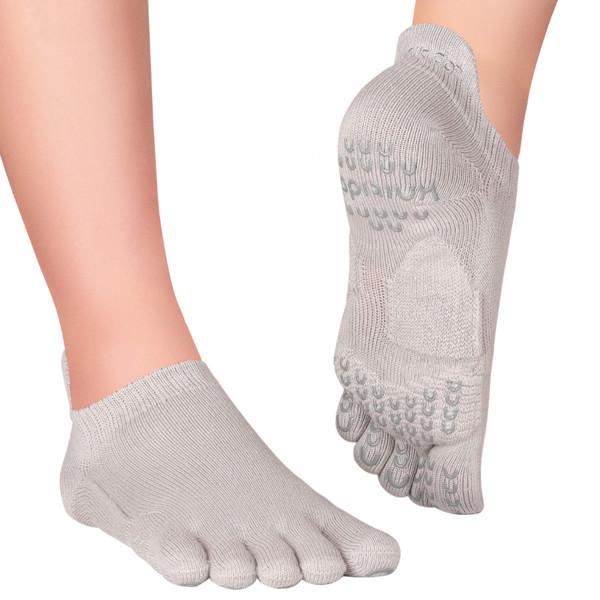 Knitido Zehensocken Pilates Socken ABS Sora Grey, 35-38