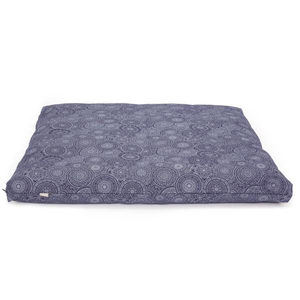YOGISAN Meditationsmatte Zabuton Design Blue, ca. 80 x 80 x 5 cm