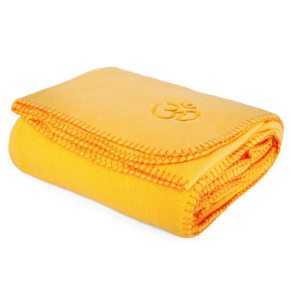 YOGISAN Yogadecke Asana-Yoga Om Yellow