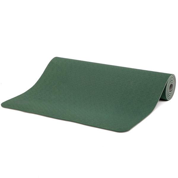 YOGISAN TPE Yogamatte recycelbar 6mm Green
