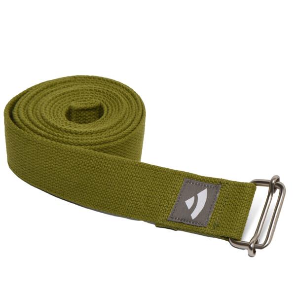 YOGISAN Yogagurte mit Schiebeschnalle Green, 3,8 cm x 2,5 m