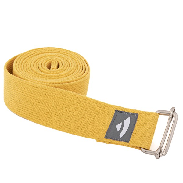 YOGISAN Yogagurte mit Schiebeschnalle Yellow, 3,8 cm x 2,5 m