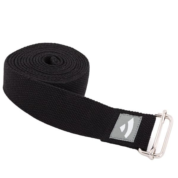 YOGISAN Yogagurte mit Schiebeschnalle Black, 3,8 cm x 2,5 m