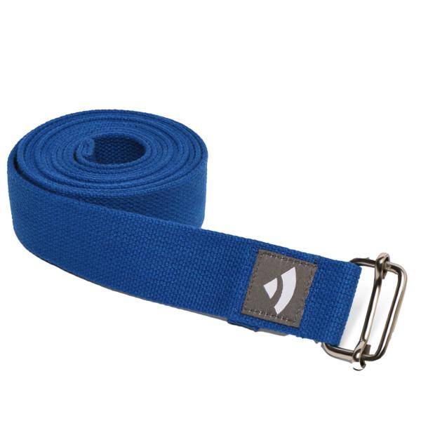 YOGISAN Yogagurte mit Schiebeschnalle Blue, 3,8 cm x 2,5 m