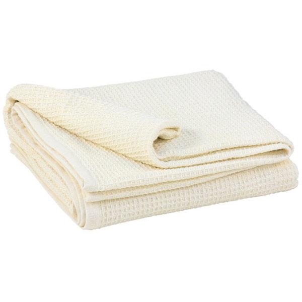 YOGISAN Yogadecke Waffelpique Cotton