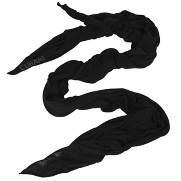 Curare Yogakleidung für Bikram Yoga Stola #28 black ca. 200cm x 90cm