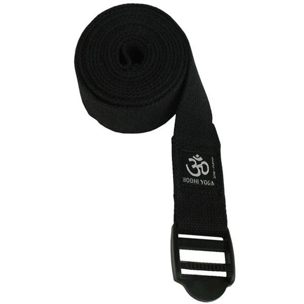 YOGISAN Yogagurt Basic Plastikschnalle Black, 3,8 cm x 2,5 m