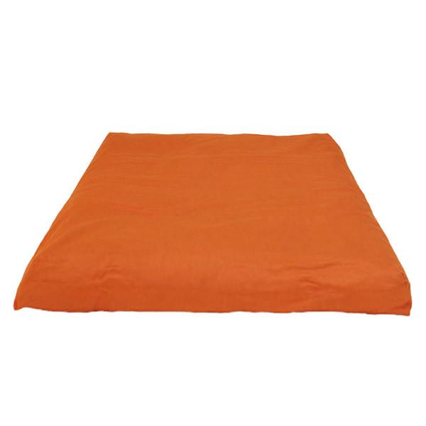 YOGISAN Zabuton Meditationsmatte YogiZen Orange, ca. 80 x 80 x 5 cm