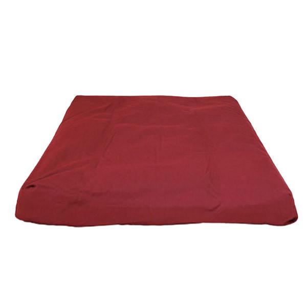 YOGISAN Zabuton Meditationsmatte YogiZen Red, ca. 80 x 80 x 5 cm
