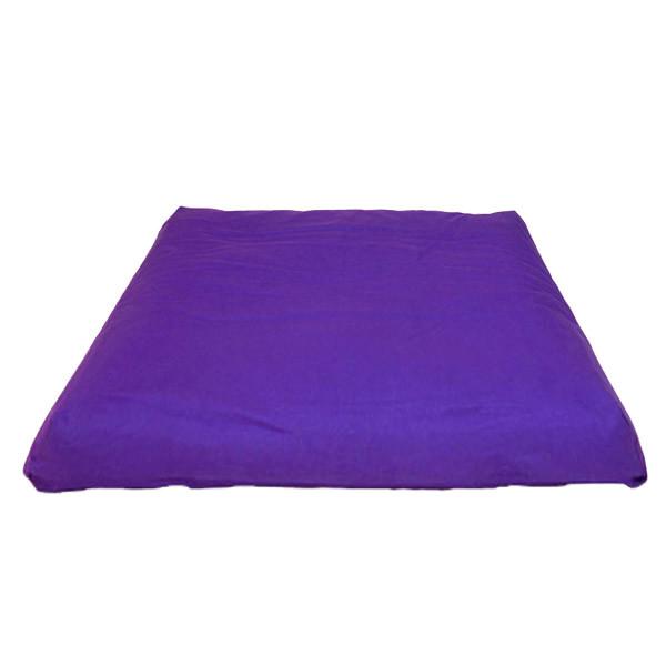YOGISAN Zabuton Meditationsmatte YogiZen Violett, ca. 80 x 80 x 5 cm