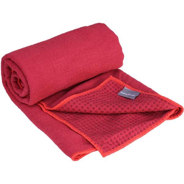 YOGISAN Yogatuch Extra Grip mit Noppen ca. 61cm x 183cm, Red