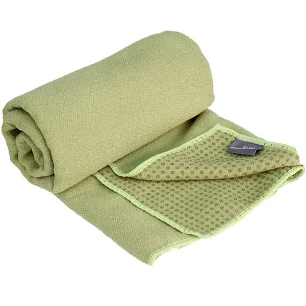 YOGISAN Yogatuch Extra Grip mit Noppen ca. 61cm x 183cm, Green