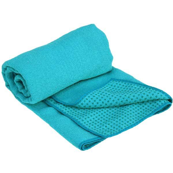 YOGISAN Yogatuch Extra Grip mit Noppen ca. 61cm x 183cm, Turquoise