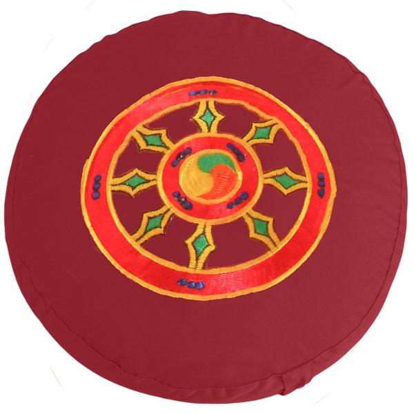 YOGISAN Yogakissen Dharma Rad Red Dinkelspelz