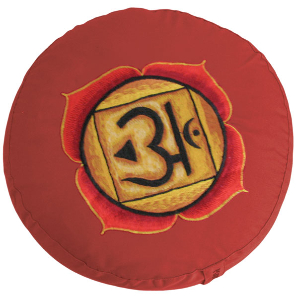 Yoga und Meditationskissen Mondkissen Halbmond Chakra 1 Muladhara Rot