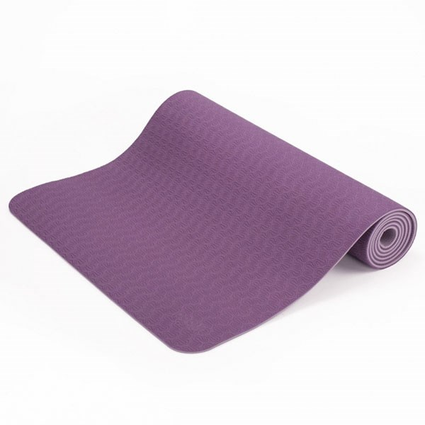 YOGISAN TPE Yogamatte recycelbar 6mm Aubergine